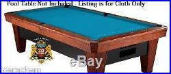 SIMONIS 760 CLOTH 9' Set Tournament Blue Pool Table Cloth $25 Value Added