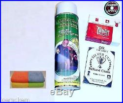SIMONIS 760 Cloth 7' Set Tournament Blue Pool Table Cloth $25 Value added