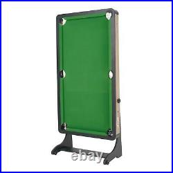 SMALL POOL TABLE Green 5 Ft Portable Folding with All Accessories
