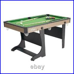 SMALL POOL TABLE Green 5 Ft Portable Folding with All Accessories New