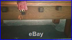 SOLID OAK POOL TABLE 4x8 custom built billiards