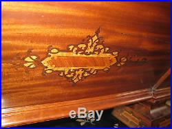 STUNNING ANTIQUE BRUNSWICK POOL TABLE WITH INLAY AND ACCESSORIES