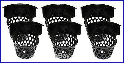 Set of 6 Plastic 6 3/4 H Web Pool Table Billiard Pockets