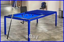 Black 7/' Modern Convertible Pool Billiard Table /'Ultra/' dining//desk//fusion table