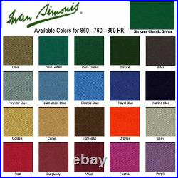 Simonis 860 Cloth 9' Pool Table Free Shipping Pick Your Color