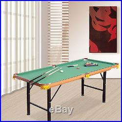 Soozier 4.5FT Mini Foldable Pool Table Portable Billiard Table full set withballs