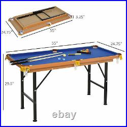 Soozier Portable Folding Billiards Table Game Pool Table for Kids Adults