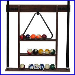 Sportcraft 7.5' Ball and Claw Billiard Pool Table with Cue Rack and Accessories