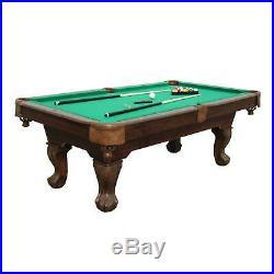 Sportcraft 7.5' Pool Table w Cue Rack & Accessories (Certified Refurbished)