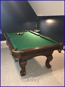 Sportcraft 7.5ft Billiard Pool Table With All Balls And 3 Pool Cue Sticks