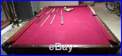 Standard 9 Foot Billiard Table Pool Table Cue Sticks Balls & Rack Red Velvet