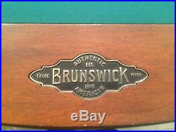 Standard Brunswick pool table with all needed materials, local pick-up/move only