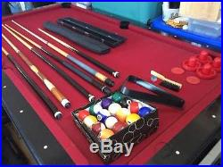 Standard Size Pool Table/Air Hockey Table With All Playing Materials