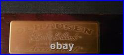 Strafford Olhausen 8' Pool Table WithBall in Claw Accufast Cushion Italian Slate