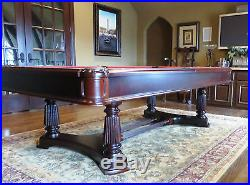 Stunning BRUNSWICK 8 ft 6 in Billiards Pool Table w Floor Rack & Accessories