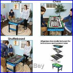 Sunnydaze 10-in-1 Multi-Game Table Billiards Foosball Hockey Pool Air Hockey
