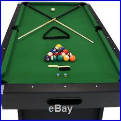 Sunnydaze 7-Foot Pool Table with Ball Return