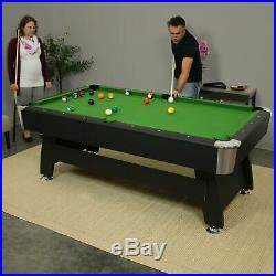 Sunnydaze 7-Foot Pool Table with Ball Return Includes Game Accessories