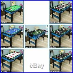 Sunnydaze Multi-Game 10-in-1 Game Table Billiards Foosball Hockey Pool