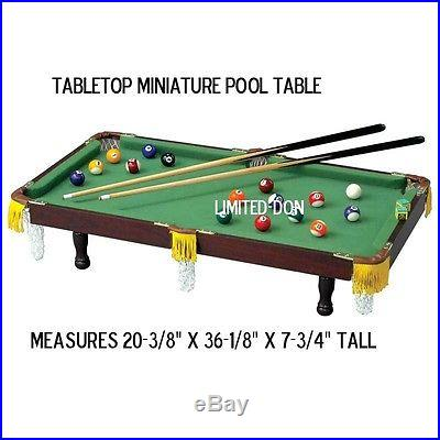 TABLETOP MINATURE POOL TABLE CLUB FUN