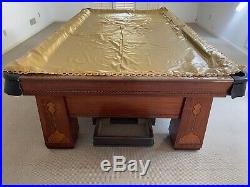 The Brunswick Balke Collender Co. Monarch Cushions The Royal 1926 Pool Table