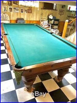 The Brunswick Balke Collender Co Union League Antique pool table 1912 Deal