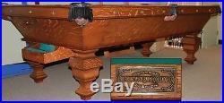 The Delaware Brunswick-Balke-Collender Antique Pool Table