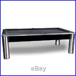 The Spectrum Pool Table 8' with Chrome Finish and FREE SHIPPING