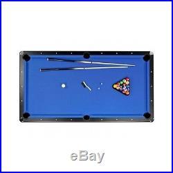 Traditional Pool Table Billiards Set 7-Foot Game Room Cues Sticks Balls Return