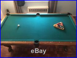 Unbranded 8 Slate Pool Table with Accessories