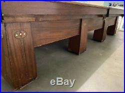 Used Antique (1922-23) Brunswick Balke Collender'Regina' Snooker Table, 12'x6