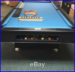 Used NY Golden Billiard Black Knight 8 foot table, 1 Italian slate, accessories