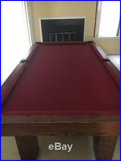 Used Pool Table With accessories red felt surface local pickup only