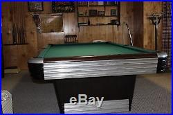 Vintage 1948 Centennial Art Deco Brunswick Pool Table