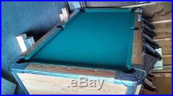 Valley Cougar 93 coin-op pool table single piece slate 7' just like in bars