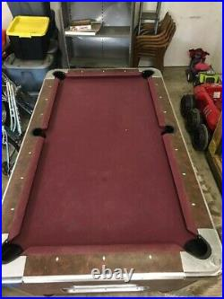 Valley Pool Table For Sale - Used - Felt is in great shape. Balls Included