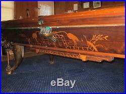 Very Unique Egyptian Theme Antique Pool Table Circa 1880s-1890s ($75,000)