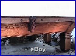 Vintage 1908 Brunswick Balke Collender restored 1+ slate table