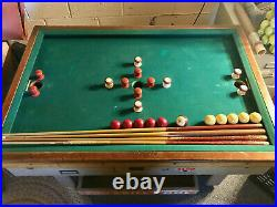 Vintage 1950's Exhibit's 3-hole skill bumper pool
