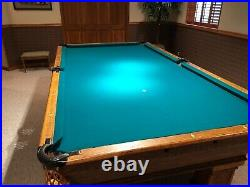 Vintage 9 Foot, Solid Slate Pool Table-Very Good Condition