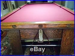 Vintage 9' Pool Table