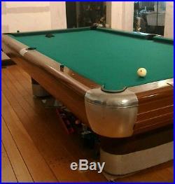 Vintage 9 ft Brunswick Anniversary Pool Table Retro