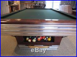 Vintage 9 ft. Brunswick Centennial Professional Model Pool Table (early '50's)