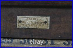 Vintage Alcock & Co. Snooker Pool Billiard Table Scrolling Scoreboard Antique