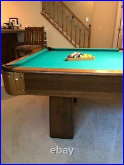 Vintage Antique Billiard Pool Table