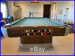 Vintage/Antique Brunswick Balke Mid Century Modern 9' Anniversary Pool Table