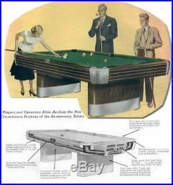 Vintage/Antique Brunswick Billiards Anniversary Pool Table 9