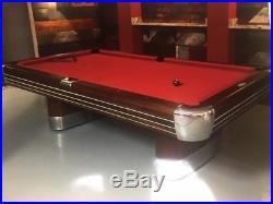 Vintage/Antique Brunswick Billiards Mid Century Modern 9' Anniversary Pool Table