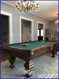 Vintage / Antique Pool Table The Brunswick-Balke-Collender Co Year around 1895