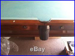 Vintage Antique Solid Wood. 3 piece Slate Top Pool Table